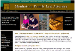New York Divorce Lawyer - Paul Matthews - Family Law