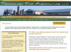 Dairy equipment from Tech For Ag